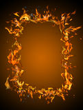 Burning frame. Against a dark background Stock Photography
