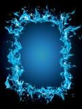 Burning frame Royalty Free Stock Image