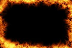 Burning frame Stock Images