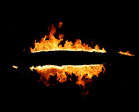 Burning frame. Frame, fire, abstract fiery background stock image
