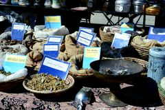 Burning Frankincense. Street vendor selling frankincense during the 2012 Annual Street Fair in Maspeth New York Royalty Free Stock Images