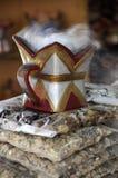 Burning Frankincense stock image