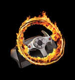 Burning game wheel Royalty Free Stock Photo