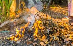 Burning garbage Stock Photos
