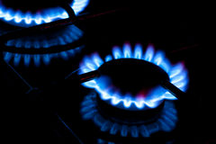 Burning gas Royalty Free Stock Photography