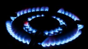 Burning gas Stock Image