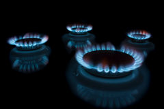 Burning gas Stock Photo