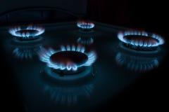 Burning gas Stock Photos