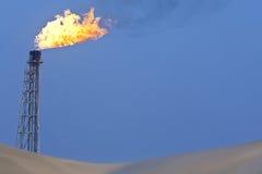 burning gas Royaltyfri Fotografi