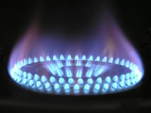 Burning gas burner
