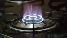 Burning gas burner stock video