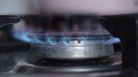Burning gas closeup stock footage