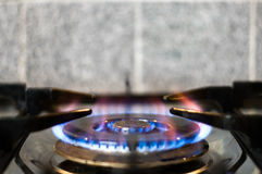 Burning Gas Cooker Royalty Free Stock Photography