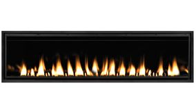 Burning gas fireplace isolated on white background.  royalty free stock photos