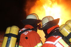 Burning gas line Stock Photos