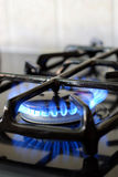 Burning gas oven Stock Photography