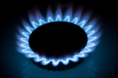 Burning gas ring Stock Photos