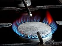 Burning gas ring Royalty Free Stock Image