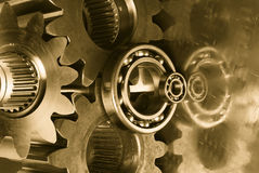 Burning gears Stock Photography