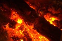 Burning glow closeup Stock Photos