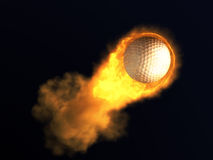 Burning golf ball Royalty Free Stock Image