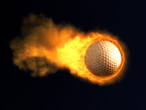 Burning golf ball Royalty Free Stock Photo