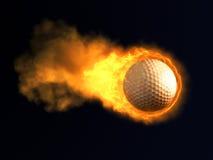 Burning golf ball Royalty Free Stock Photo