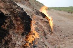 Burning ground Stock Images