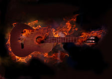 Free Burning Guitar Stock Images - 90039134