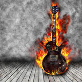 The burning guitar Royalty Free Stock Photography