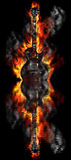 Burning guitar in the water Royalty Free Stock Image