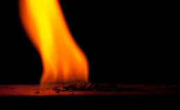 Burning gunpowder Royalty Free Stock Images