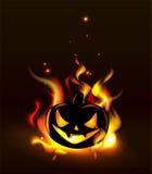 Burning Halloween lantern Stock Image