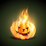 Burning halloween pumpkin Royalty Free Stock Photo