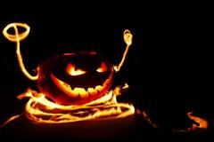 Burning halloween pumpkin Royalty Free Stock Photos