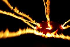 Burning halloween pumpkin Royalty Free Stock Photography