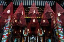 Burning hanging incense coils Stock Image