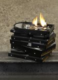 Burning hard drive Stock Photo