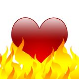 Burning Heart [02]. A Big Burning Heart on White Background Vector Illustration