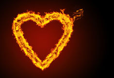 Burning heart. Concept of a burning heart Royalty Free Stock Photo