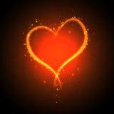 Burning heart Royalty Free Stock Photography