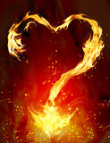 Burning heart Royalty Free Stock Photos