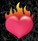 Burning heart Stock Photo
