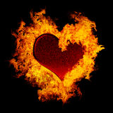 Burning heart Stock Photos