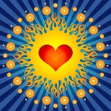 Burning Heart ! Royalty Free Stock Photo