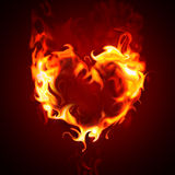 Burning heart Stock Photos