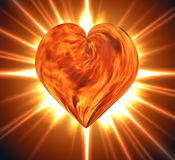 Burning heart. Heart of fire burning close up Royalty Free Stock Images