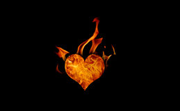 Burning heart Royalty Free Stock Images