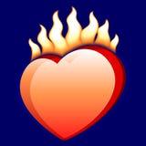 Burning heart. Vector illustration of a burning heart Stock Photography