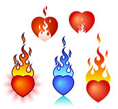 Burning heart Stock Image